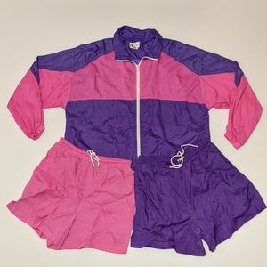 Vintage 3 Piece Windbreaker Jogging Suit